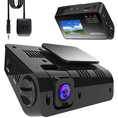 YOKOO ドライブレコーダー 車載カメラ ドラレコ GPSアンテナ付属 170°広角 1080P FHD 1200万画素 Gセンサー搭載 WDR コンデンサ内蔵 常時録画 動き検知 24ヵ月保証期