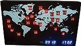 LED 掛け時計 MINI WORLD TIME ミニワールドタイム