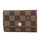ルイヴィトン(Louis Vuitton) ダミエ エベヌ DAMIER EBENE N41624 キーケース ピンク/ブラウン[並行輸入品]