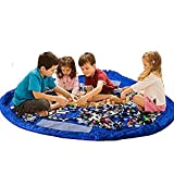 Lexitek子供たちはマット折り畳み式のベビー玩具収納袋キッズラグ子供のおもちゃオーガナイザーを再生します