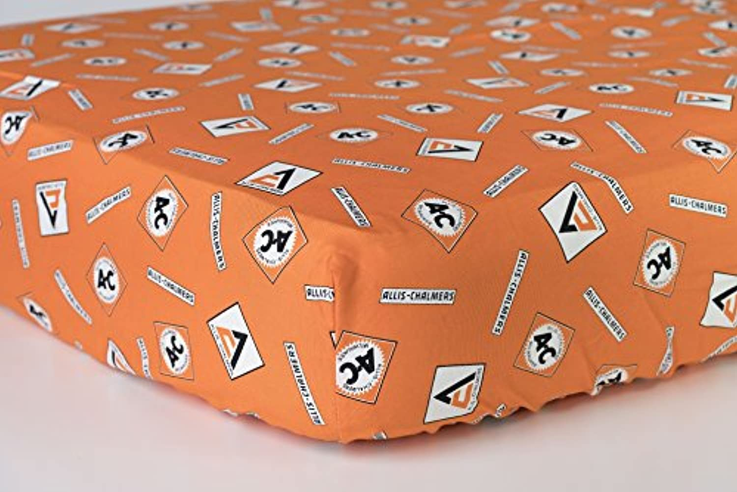 Allis Chalmers AC Orange Logo Fitted Crib Sheet by Oliver