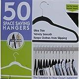 落ちないハンガー省スペース ずれないハンガー すべらないハンガー薄型 お徳用50本 クローゼットすっきりの写真