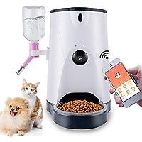犬猫用 自動給餌器 見れる話せる 音声録音機能 大容量 4L 1日4回 オシャレな外観 日本語アプリ連動 スマホ連動 遠隔操作できる 説明書付き