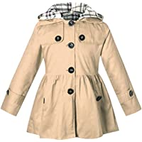 BINPAW Girl's Hooded Trench Coat