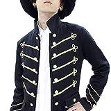 ankoROCKダブルゴールドボタン&金糸刺繍ナポレオンフロント連打フックカットジャケット