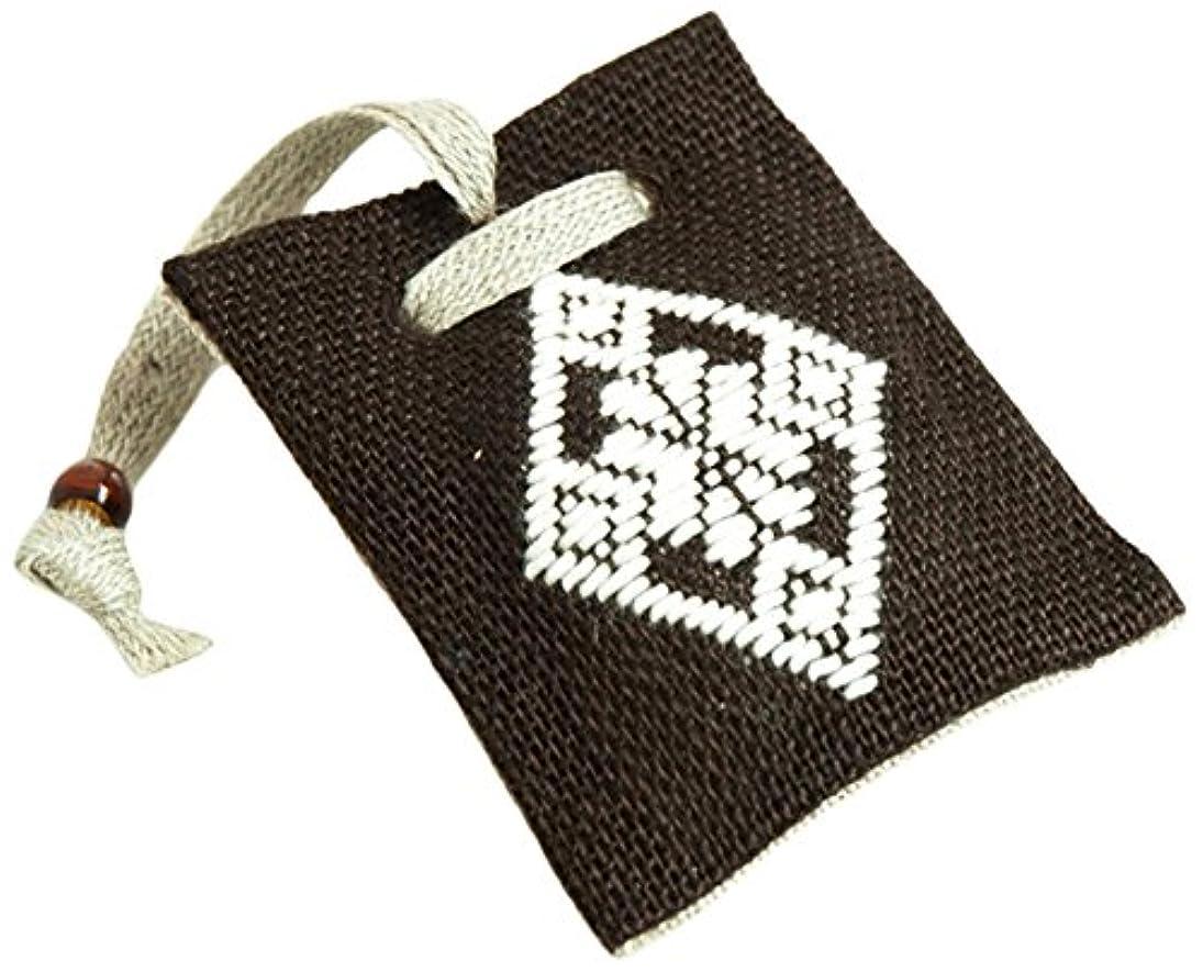 開発アジア罰香音 こぎん刺し香袋(水仙) こげ茶
