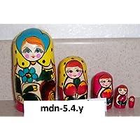 Russian Nesting Doll (Maidan) * 5 Pcs / 4 in * mdn-5.4y