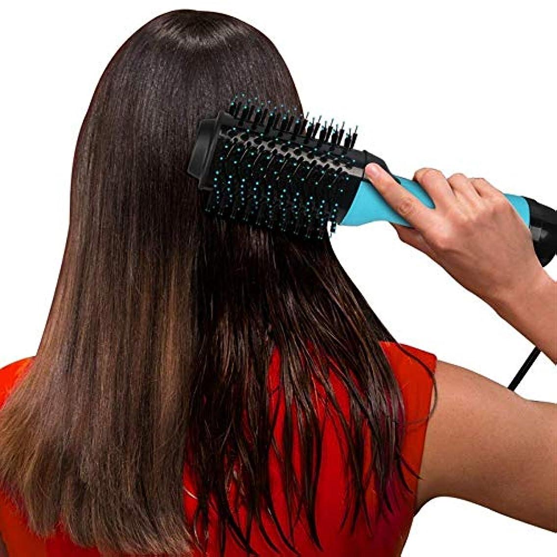 ニュージーランド視線アシュリータファーマンZYDP すべての毛のタイプのための小型サイズのドライヤーのストレートナのエアブラシ (色 : 青)