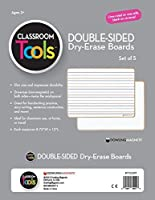 Dowling Magnets 735209 Double-Sided Boards Grade: Kindergarten to 12 Composite Wood/Plastic with Dry-Erase Surface 11.88 Long x 9 Wide x 0.14 Thick White (Pack of 5) [並行輸入品]