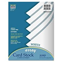 """Wholesale CASE of 15–Paconアレイカードstock-cardストック紙、クラシック、65lb。、8- / 2"""" x11"""" 100/ PK、ホワイト"""