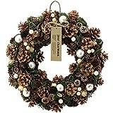 グリーンハウス リース クリスマスナチュラルリース CM921-A L ポピュラードブラウン