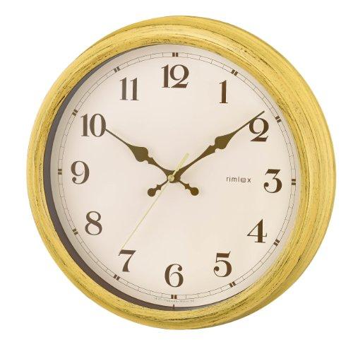 NOA 電波掛け時計エアリアルレトロ イエロー W-571