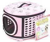 ペット キャリー バッグ 折り たたみ ケース 犬 猫 小動物 用 L サイズ ピンク 【 キャリー と シーツ の 2点セット 】