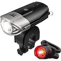 自転車ライト テールライト付 TaoTronics USB充電式 ヘッドライト 700ルーメン LED IP65防水 50mを照らす明るいライト 強/ 弱/ フラッシュモード 【一年間安心保証】 TT-HP007