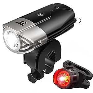 自転車ライト テールライト付 TaoTronics USB充電式 ヘッドライト 700ルーメン LED IP65防水 50mを照らす明るいライト 強/弱/ フラッシュモード TT-HP007