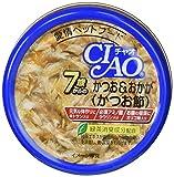 チャオ (CIAO) キャットフード 7歳からの かつお&おかか 75g×24缶 (まとめ買い)