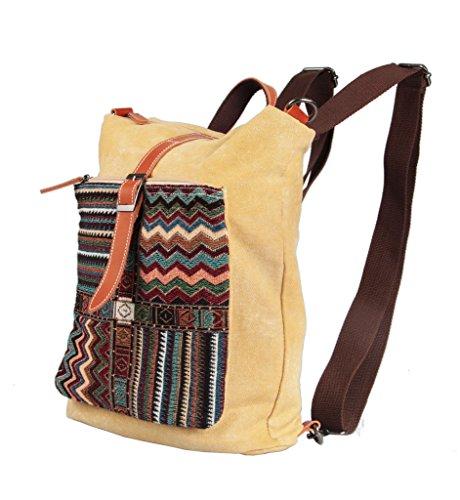 (トムクローバー) Tom Clovers 帆布 バッグ エスニック キャンバス リュックサック スクールバッグ 通学 旅行 遠足 大容量 高校生