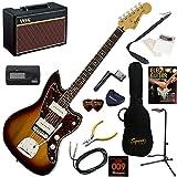 Squier エレキギター 初心者 入門 クラシックスタイルのJazzmaster。サウンド・ルックス共に、本格的なジャズマスターを再現。 人気のVOX Pathfinder10が入った本格14点セット Vintage Modified Jazzmaster/3CS(3カラーサンバースト)