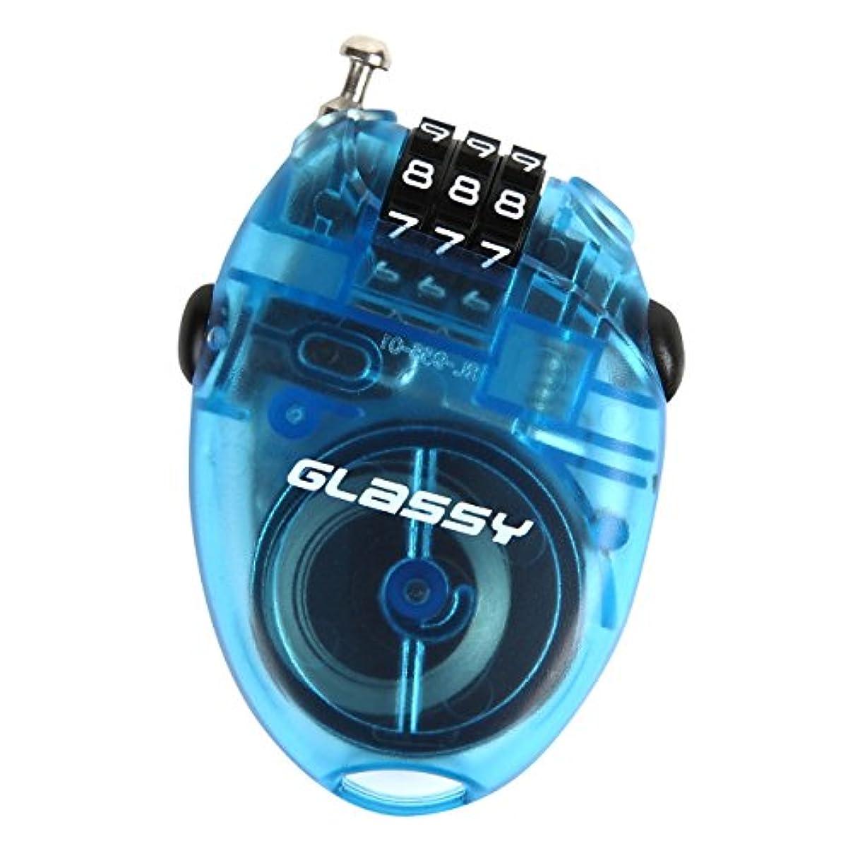 すでにプランター保守的GLASSY グラッシー スノーボード ケーブルロック ワイヤーロック 盗難防止
