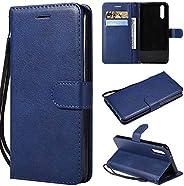 Huawei P20 ケース 手帳型 CUSKING 手帳型 カバー Huawei P20 用 スタンド機能 横置き機能 カードポケット ファーウェイ スマホケース 財布型 ケース カバー – ブルー