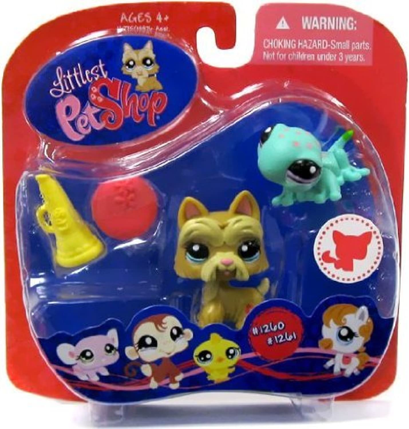 Littlest Pet Shop (リトルペットショップ) Scotty Dog & Gecko #1260 & #1261 ~ Walmart Exclusive(並行輸入)