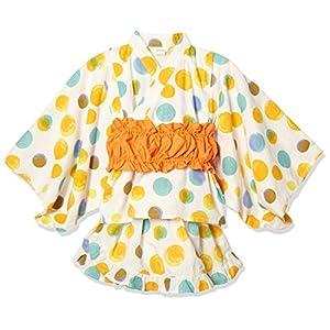 [タキヒヨー] 水玉柄浴衣風3点セット 342447207 ガールズ オレンジ 日本 95 (日本サイズ95 相当)