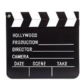 映画撮影 カチンコ ハリウッド 黒白柄