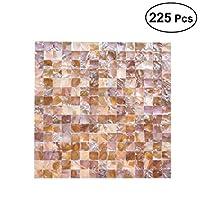 Healifty 貝殻壁用デカール 225枚 壁用セラミックタイル 寝室 リビングルーム用