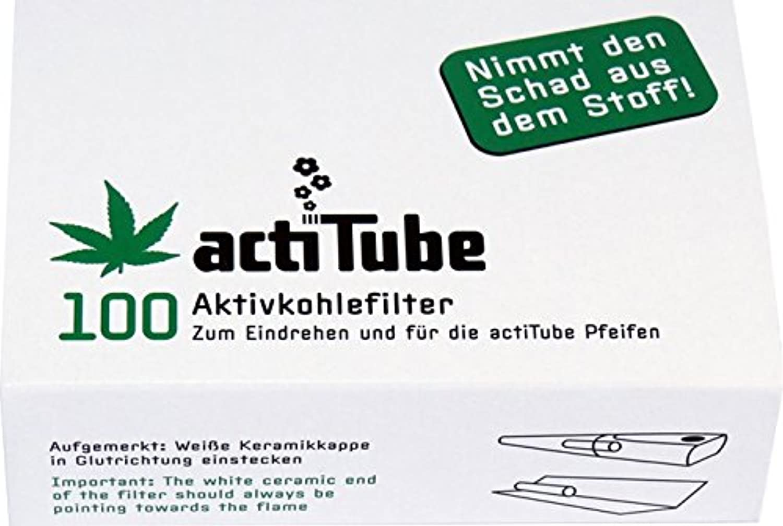 【Tuneフィルター新ブランド】 actitube(アクティチューブ) 活性炭フィルター 100本入