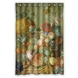 pilzoo横幅X高さ/ 48x 72インチ/ W H 120by 180CM有名なクラシックArt Painting Flowers Blossoms風呂カーテンポリエステルファブリ..