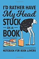 I Love Reading Notebook. Funny Ostrich Book Lover: Blank Lined for Writing and Note Taking