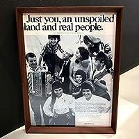 アリタリア航空 1960年代 LIFE 広告 ポスター 額付
