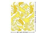 黄色のハワイアンファブリック 柄 fab-2532YW 【ハワイ生地・ハワイアンプリント】