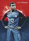 キリアン エムバペ ポスター 42x30cm ムバッペ ンバペ Kylian Mbappe Mbappé サッカー フランス 代表 モナコ パリ サンジェルマン