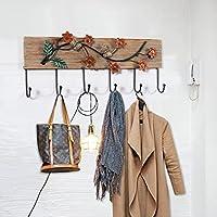 KTYX 素朴なスタイルの木製装飾フッククリエイティブなパーソナリティホーム木製のコートフック コートハンガー (色 : Happy to spend)