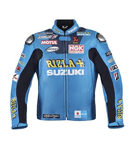 Suzuki Rizlaレザージャケット M (EU50) ブルー SZLTHR01