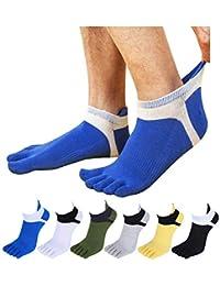 BESTOD フットカバー 5本指靴下 メンズソックス ショートソックス くるぶし スポーツ ビジネス 通気防臭 5/6足セット