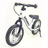 《プロテクタープレゼント》【組立済】【キックスタンド付き】 ブレーキ付ゴムタイヤ装備 ペダルなし自転車 キッズバイク SPARKY バランスバイク (WHITE)