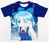 〔MY Create〕Tシャツ 東方Project チルノ 半袖 ブルー 各種サイズ有り (S)