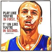 ステフィン?カリー NBAバスケットボール ゴールデンステート?ウォリアーズ 海外スポーツグラフィックアートパネル 木製 ポスター インテリアに