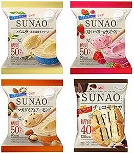 江崎グリコ SUNAO(スナオ)アイス クリーム 36個入(バニラ12個・ストロベリー&ラズベリー6個・マカダミア&アーモンド6個・チョコモナカ12個)