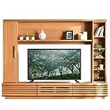 タンスのゲン 壁面 テレビ台 アルダー無垢 日本製 幅180 国産 木製 テレビ台 壁面収納 ナチュラル 38700015 NA
