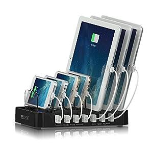 Satechi 7ポート USB 充電ステーション (各種スマートフォンとタブレット対応) (黒)