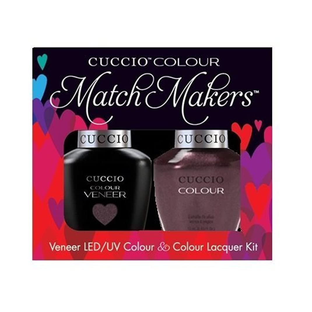 類人猿弱点平らなCuccio MatchMakers Veneer & Lacquer - One Night in Bangkok - 0.43oz / 13ml Each