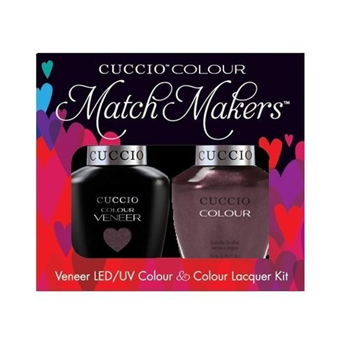 バック喪紛争Cuccio MatchMakers Veneer & Lacquer - One Night in Bangkok - 0.43oz / 13ml Each