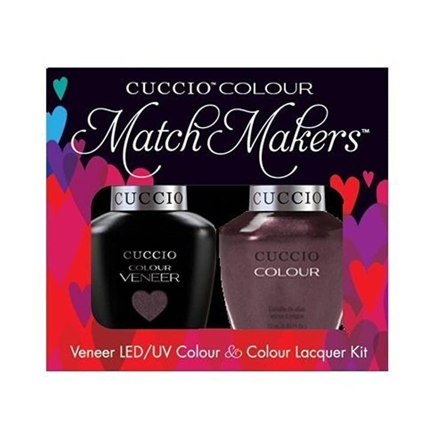 辛い人口疲労Cuccio MatchMakers Veneer & Lacquer - One Night in Bangkok - 0.43oz / 13ml Each