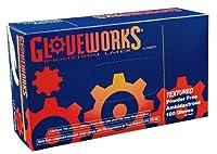 Ammex TLF Gloveworks Latex Glove, Disposable, Powder Free, Medium (Box of 100) [並行輸入品]