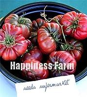 100本の混在フリルトマト盆栽レアトマト盆栽オーガニック野菜&フルーツ鉢植えのホームガーデン非遺伝子組み換え食品:C