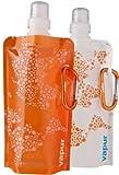 vapur(ヴェイパー)携帯型ウォーターパック アンチボトル0.4L 2個パック オレンジ&ホワイト 640010106