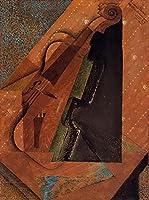 ¥5K-200k 手書き-キャンバスの油絵 - 美術大学の先生直筆 - 22 名画 - violin 1914 立体主義 抽象画 - 絵画 洋画 手描複製画 -02